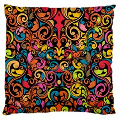 Art Traditional Pattern Large Flano Cushion Case (One Side)
