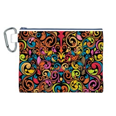 Art Traditional Pattern Canvas Cosmetic Bag (L)