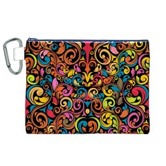 Art Traditional Pattern Canvas Cosmetic Bag (XL)
