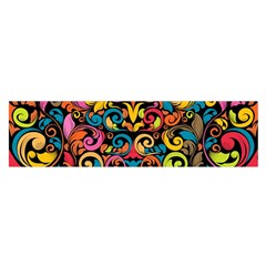 Art Traditional Pattern Satin Scarf (Oblong)