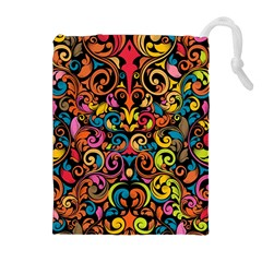 Art Traditional Pattern Drawstring Pouches (Extra Large)