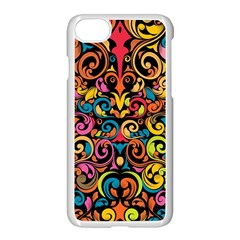 Art Traditional Pattern Apple iPhone 7 Seamless Case (White)