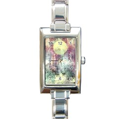 Frosty Pale Moon Rectangle Italian Charm Watch