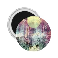 Frosty Pale Moon 2 25  Magnets