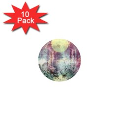 Frosty Pale Moon 1  Mini Magnet (10 pack)