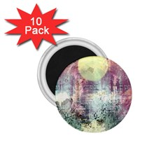 Frosty Pale Moon 1.75  Magnets (10 pack)