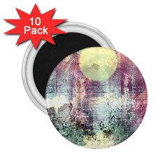 Frosty Pale Moon 2.25  Magnets (10 pack)