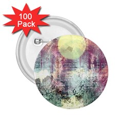 Frosty Pale Moon 2.25  Buttons (100 pack)