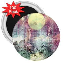 Frosty Pale Moon 3  Magnets (100 pack)