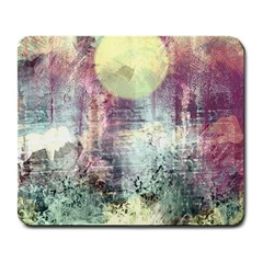 Frosty Pale Moon Large Mousepads