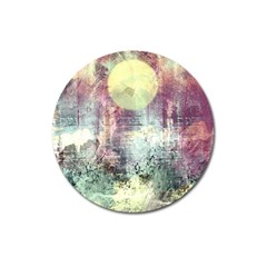 Frosty Pale Moon Magnet 3  (Round)