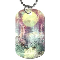 Frosty Pale Moon Dog Tag (Two Sides)