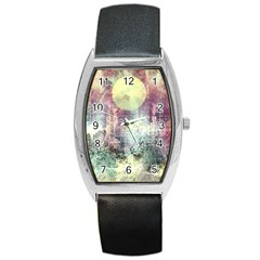 Frosty Pale Moon Barrel Style Metal Watch