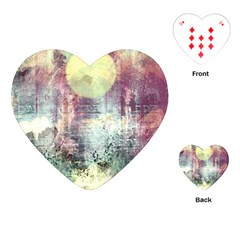 Frosty Pale Moon Playing Cards (Heart)