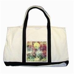 Frosty Pale Moon Two Tone Tote Bag