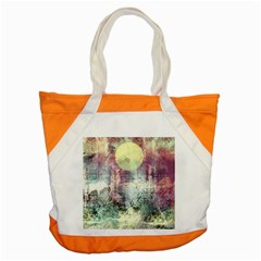 Frosty Pale Moon Accent Tote Bag