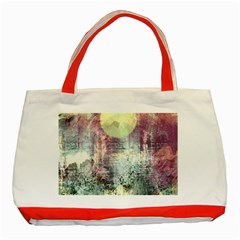 Frosty Pale Moon Classic Tote Bag (Red)