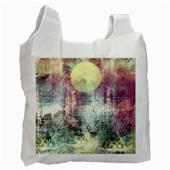 Frosty Pale Moon Recycle Bag (two Side)