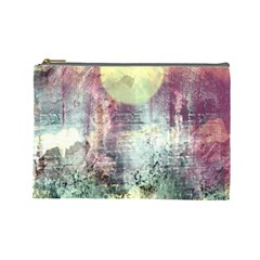 Frosty Pale Moon Cosmetic Bag (Large)