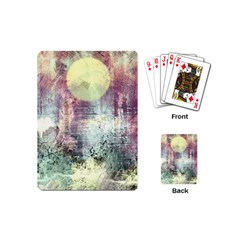 Frosty Pale Moon Playing Cards (Mini)