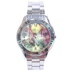Frosty Pale Moon Stainless Steel Analogue Watch