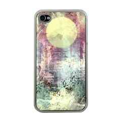 Frosty Pale Moon Apple iPhone 4 Case (Clear)