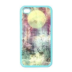 Frosty Pale Moon Apple iPhone 4 Case (Color)