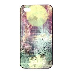 Frosty Pale Moon Apple iPhone 4/4s Seamless Case (Black)