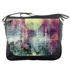 Frosty Pale Moon Messenger Bags