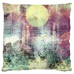 Frosty Pale Moon Large Cushion Case (One Side)