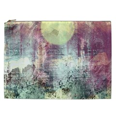 Frosty Pale Moon Cosmetic Bag (XXL)