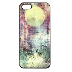 Frosty Pale Moon Apple iPhone 5 Seamless Case (Black)