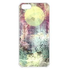 Frosty Pale Moon Apple Iphone 5 Seamless Case (white)