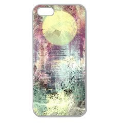 Frosty Pale Moon Apple Seamless Iphone 5 Case (clear)