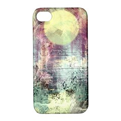 Frosty Pale Moon Apple iPhone 4/4S Hardshell Case with Stand