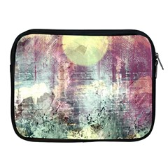 Frosty Pale Moon Apple iPad 2/3/4 Zipper Cases