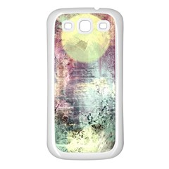 Frosty Pale Moon Samsung Galaxy S3 Back Case (White)