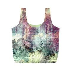 Frosty Pale Moon Full Print Recycle Bags (M)