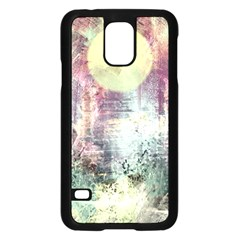 Frosty Pale Moon Samsung Galaxy S5 Case (black)