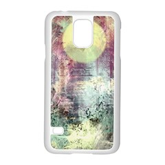 Frosty Pale Moon Samsung Galaxy S5 Case (White)