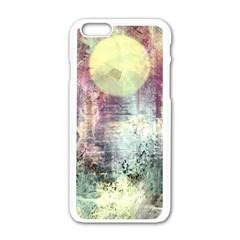 Frosty Pale Moon Apple Iphone 6/6s White Enamel Case