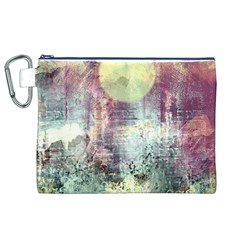 Frosty Pale Moon Canvas Cosmetic Bag (xl)