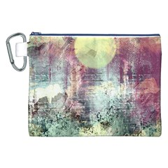 Frosty Pale Moon Canvas Cosmetic Bag (XXL)