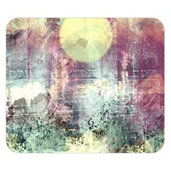 Frosty Pale Moon Double Sided Flano Blanket (small)