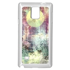 Frosty Pale Moon Samsung Galaxy Note 4 Case (White)