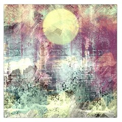 Frosty Pale Moon Large Satin Scarf (Square)
