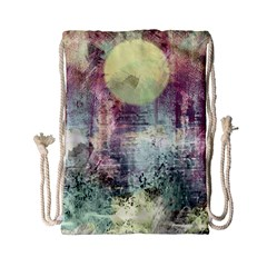 Frosty Pale Moon Drawstring Bag (Small)