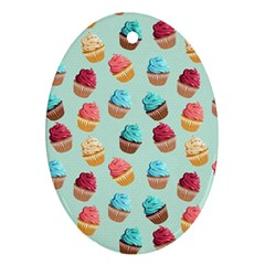 Cup Cakes Party Ornament (oval)