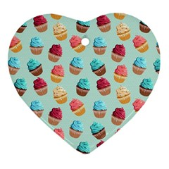 Cup Cakes Party Ornament (Heart)