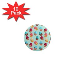 Cup Cakes Party 1  Mini Magnet (10 Pack)